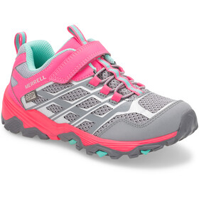 Merrell M-Moab FST Low A/C Waterproof Schuhe Kinder grey/coral